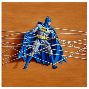 'Trapped Batman no.2' (2013) oil & alkyd on wood 30x30cm