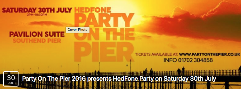 Party On The Pier 2016 presents HedFone Party